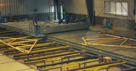 Trusses being built in the shop - Truss Fab Inc. -  Elie Manitoba