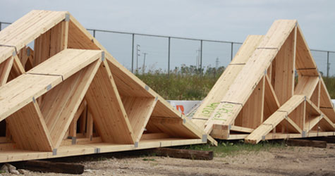 Completed Roof Trusses - Truss Fab Inc. - Elie Manitoba